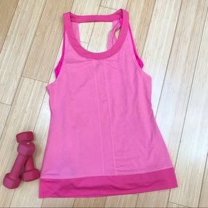 LUCY coral workout tank top, XS.